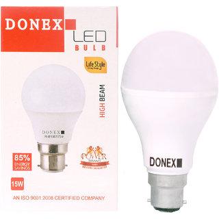 Donex 15W LED Bulb (Pack of 2 ,Cool Day Light)