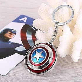 Captain America (Shield) Key Chain  Rotating Key Chain