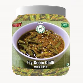 Agri Club Fry Green Chilli Pickle (Hari Mirch Achar) 750gm