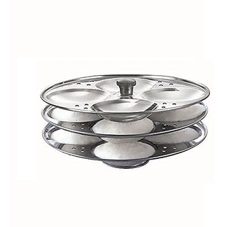 Stainless Steel Idli Stand idli Making idli Maker Pot 3 Plate (12 idli)
