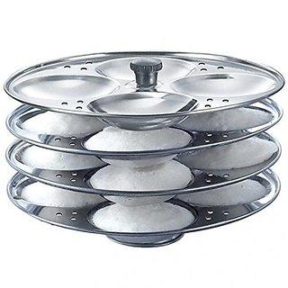 Stainless Steel Idli Stand idli Making idli Maker Pot 4 Plate (16 idli)