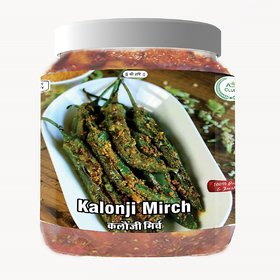 Agri Club Mother Made Delicious Tasty Stuffed Kalonji Green Chilli Pickle (750gm)