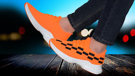 Spain Orange casual sports shoes for men's