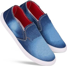 Bersache Men Blue Casual Loafer Shoes