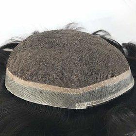 Shaear Hairs Men Toupee 100 Original Human Hair Patch Hair Replacement System Fine Monofilament Wigs For Men  Boys  Hair Toupee (10x8, Natural Black).