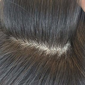Shaear Hairs Men's Human Hair Toupee with Tape or Glue - 6Inch, Natural Black 9x7.