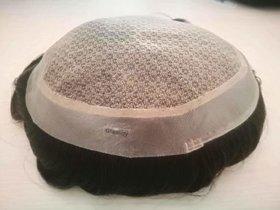 Shaear Hairs Men Toupee 100 Original Human Hair Patch Hair Replacement System Fine Monofilament Wigs For Men  Boys  Hair Toupee (7x5, Dark Brown).