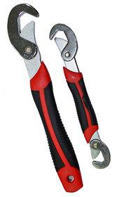 Kudos Snap N Grip Red Steel Multipurpose Wrench - Set Of 2