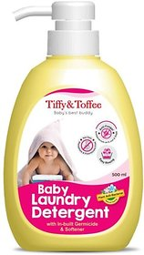Tiffy & Toffee Plant Based  Anti Bacterial Baby Laundry Detergent with Fabric Softener 500 ml 0-4 Years
