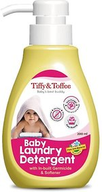 Tiffy & Toffee Plant Based  Anti Bacterial Baby Laundry Detergent with Fabric Softener 200 ml 0-4 Years