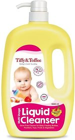 Tiffy & Toffee Food Grade Baby Liquid Cleanser for Feeding Bottles, Accessories, Fruits & Vegetables  1L 0-4 Years