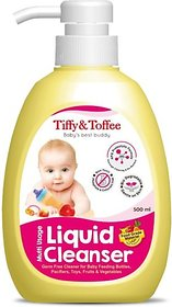 Tiffy & Toffee Food Grade Baby Liquid Cleanser for Feeding Bottles, Accessories, Fruits & Vegetables  200 mL 0-4 Years