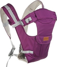 Tiffy & Toffee Baby Bunk Delight 5 Position Baby Carrier Extra Neck Support Front Pocket(Purple) 04 -18 months
