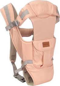 Tiffy & Toffee Baby Bunk Delight 5 Position Baby Carrier Extra Neck Support Front Pocket(Pink) 04 -18 months
