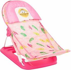 Tiffy & Toffee  Baby Bather/ Bath Seat ,Anti-Skid, Foldable,Soft Mesh ( Pink) 0-6 Months