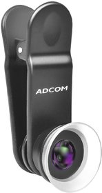 Adcom 12x/24x Macro Mobile Phone Camera Lens with Lens Hood - Compatible with All iPhone  Android Smartphones (Black)