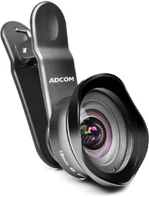 Adcom Wide Angle + CPL Clip on Mobile Phone Camera Lens - Compatible with All iPhone  Android Smartphones (Black)