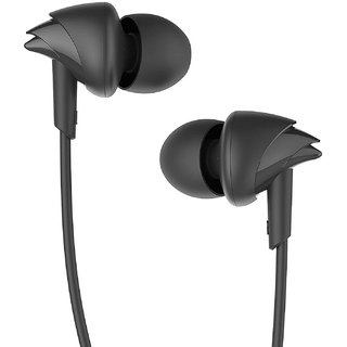 boAt BassHeads 100 In the Ear Wired Headset (Black)