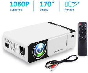 New Home Cinema LED Projector 1080p HD- Wifi, HDMI,VGA,AV IN,USB, Miracast/Airplay- T5 UC46 Mini Theater Portable