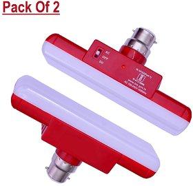 S4 Onlite Inverter T-Bulb 25 Watt B22 Rechargeable White Emergency LED Bulb Set Of 2