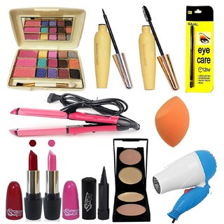 SWIPA Makeup Kit Combo Set(Pack Of-12)