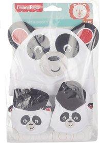 Fisher-Price Fisher Price Baby Cap & Booties Set Pack of 2 White (Panda) (White) 04 -18 months