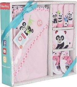 Fisher-Price Fisher Price Baby Bath Set Pack of 7 Pink (Panda) (Pink) 04 -18 months