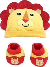 Fisher-Price Fisher Price Baby Cap & Booties Set Pack of 2 Yellow (Lion) (Yellow) 04 -18 months