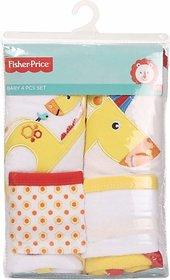 Fisher-Price Fisher Price Baby Bath Set Pack of 4 Yellow (Giraffe) (Yellow) 04 -18 months