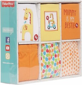 Fisher-Price Fisher Price Baby Gift Set Pack of 6 Multicolor (Giraffe) (Multicolor) 04 -18 months