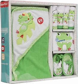 Fisher-Price Fisher Price Baby Bath Set Pack of 7 Green (Frog) (Green) 04 -18 months
