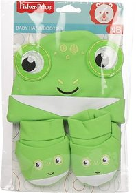 Fisher-Price Fisher Price Baby Cap & Booties Set Pack of 2 Green (Frog) (Green) 04 -18 months