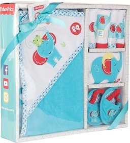 Fisher-Price Fisher Price Baby Bath Set Pack of 7 Blue (Elephant) (Blue) 04 -18 months