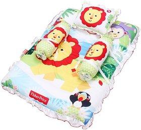 Fisher-Price Cotton Silk Blend, Cotton Bedding Set (Multicolor) 04 -18 months