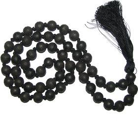 Karungali Maram Kattai Malai Round Mani Ebony Mala Natural Unpolished 10mm 54 Beads