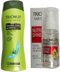 Trichup Natural Shampoo (400 ml)1,Trichup Hair Serum (50ml)1 pack of 2