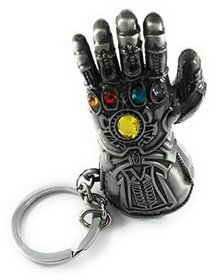 Pack Of 1 Marvel Avengers - Thanos Silver Hand Metal Keychain