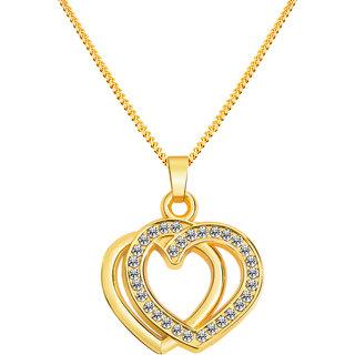 Alan swiss Women Alloy Gold Shine Heart Pendant
