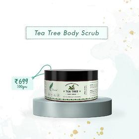 Frescia Tea Tree paraben free  Body Scrub Men  Women for ALL skin type