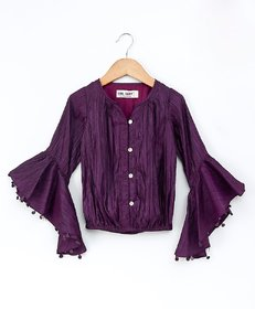 Soul Fairy Bell Sleeved Button Up Blouson Top