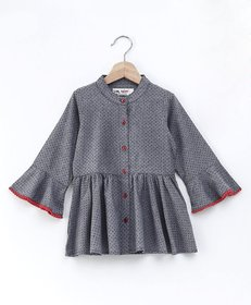 Soul Fairy Gather Detail Bell Sleeved Top