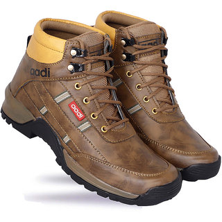 Aadi Men's Brown Synthetic Leather Outdoor Casual Boot