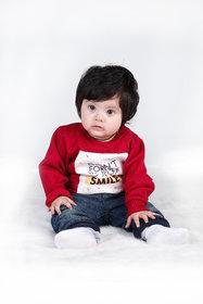 Sweatshirt for Kids Girl, Winter Baby Clothes, Red Sweatshirt For Kids Girl.