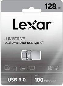 Lexar 128GB JumpDrive Dual Drive D35c USB 3.0 Type-C
