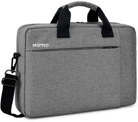 MSPRO Office Laptop Bags Briefcase 15.6 Inch for Women and Men (Grey)