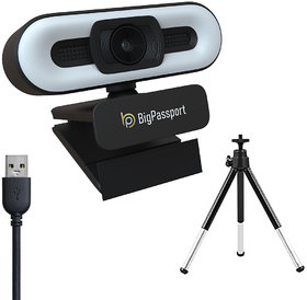 BigPassport Webcam 1080P 2 0MP Full HD with LED Touch Light and Microphone Advanced Autofocus Web Camera (Pro-LiveN2)