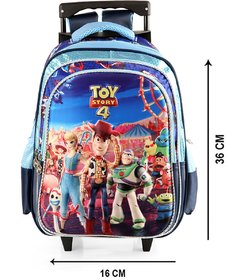 Disney School Bag  with Trolley Toy Story print,2 main compartment with 1 front pocket, 1water bottle side (SBT-6)