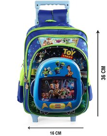 Disney School Bag Trolley with Minnie Mouse print,  2 main compartment with 1 front pocket, 1water bottle side (SBT-17)