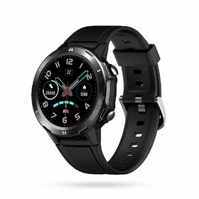 Portronics YOGG Kronos Alpha POR-1037 Smart Watch with Fitness Tracker, Heart Rate Monitor, Call  SNS Reminders(Black)