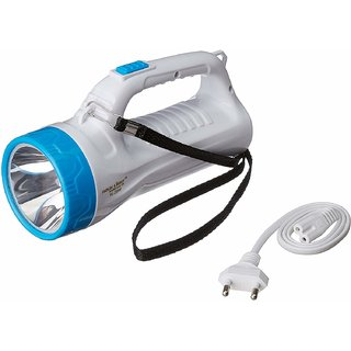 Rocklight Rechargeable Torch + Emergency light 2 in 1 (combo pack of 2)